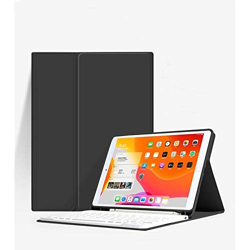 For I pad Pro 11 2020 Case with Bluetooth Keyboard Cover for I pad Pro 12 9 10 2 8th Air for I pad 9.7 6th 7th Generation 2017 2018-Black And White_Pro 12.9 2018 2020