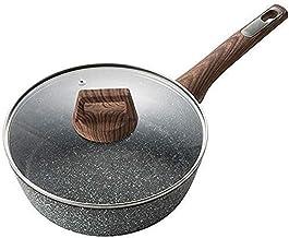 28cm Household Kitchen Utensils Non-Stick Pan, Deep Frying Pan Wok Soup Soup Stove