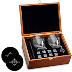THE ULTIMATE GIFT FOR DAD – Give dad the father's day (or any day) gift he'll be talking about for years to come. This set of whiskey glasses and chilling rocks is sure to put a smile on his face! JUST ADD WHISKEY – This beautifully gift-boxed set in...