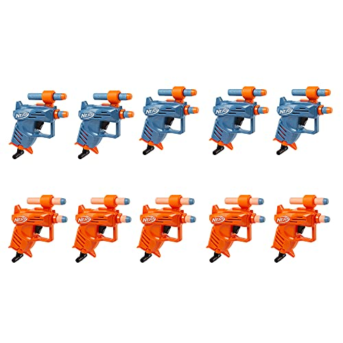 NERF Elite Ace SD-1 Party Pack -- 10 Blasters and 20 Official Elite Darts -- Pull-Down Priming Handle, Sight (Amazon Exclusive)