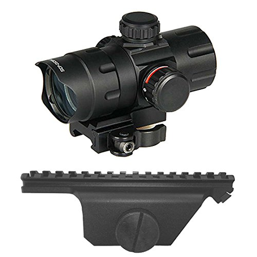 M1Surplus Optics Kit with Tactical Red Green Dot Quick Detach Scope + Weaver Style Rail Scope Mount for M1A Rifle