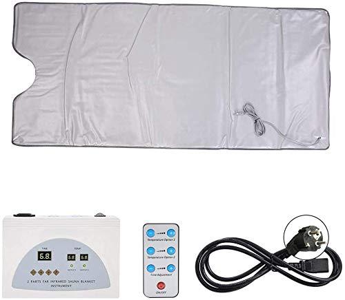 Bounabay Infrared sauna-verwarmingsdeken, waterdicht, lichaamsvorm, ontgifting, vetverlies afvallen, infrarood…