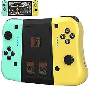 JAMSWALL Mando para Nintendo Switch, Bluetooth Wireless Controller Gamepad Joystick Controlador De Reemplazo Izquierdo Y Derecho para Nintendo Switch Joy con, Soporta Turbo/Vibración