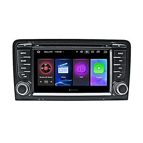 """WYZXR GPS Car Multimedia Player for Audi A3 S3 RS3 7"""" Car DVD Player Radio Stereo GPS System with Rear View Camera Map Card Carplay DSP RDS Car Audio Mirror Link 4g+WiFi"""