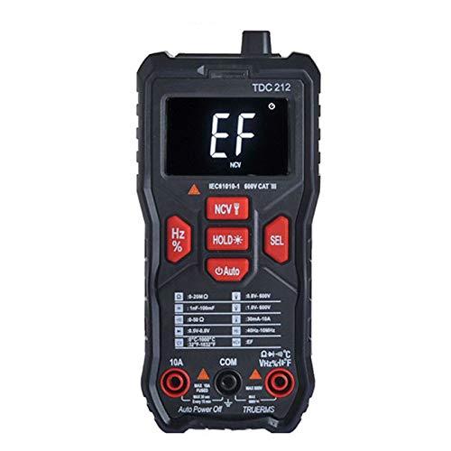Yinuoday Multímetro Digital de Rango Automático Trms 5999 Cuentas Rango Automático Amperio...