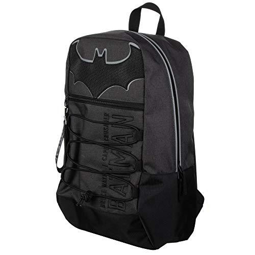 DC Comic Book Superhero Batman Black Bungee Backpack