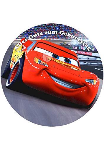 Disney\'s Pixar Cars, Essbares Foto für Torten, Tortenbild, Tortenaufleger Ø 20cm - Super Qualität, 0085w