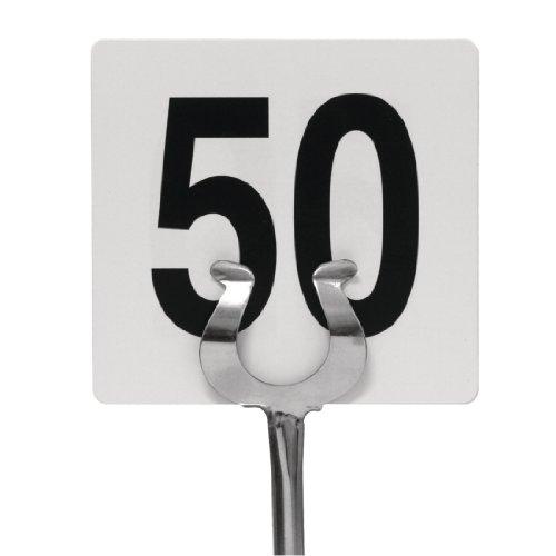 Olympia - Numeri da tavolo 1-50, 95 x 100 mm, per matrimoni, pub, ristoranti, bar, club