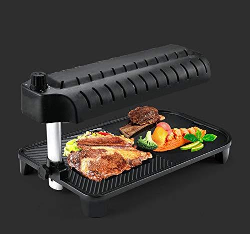 Eortzzpc Parrilla Eléctrica con Bandeja Recoge Aceite, Plancha De Asar Antiadherente para Cocinar Cualquier Alimento a Tu Gusto (Size : Non-Removable bakeware)