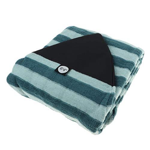 P Prettyia Bolsa de Almacenamiento de Surfboard, Cubierta para Tablas de Surf Padscon Rayas de Verde y Negro, 25 Tamaño Opcional - 6.4 pies