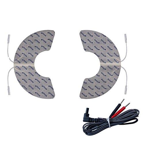2 parches de electrodos para la rodilla - Terapia TENS - Compatible con VITALCONTROL SEM 43 y SEM 44 - axion