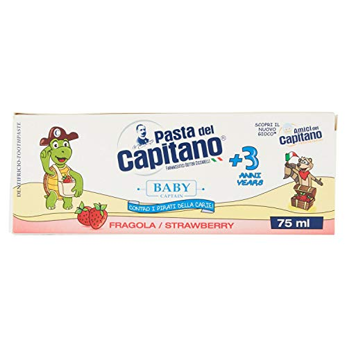Pasta del Capitano Baby Dentifricio Gusto fragola, 75 ml