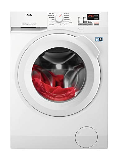 AEG L6FBA484 Waschmaschine Frontlader / Energieklasse E / Waschautomat mit Mengenautomatik / Schutz für edle Textilien dank ProTex Schontrommel (8 kg) / mit XXL-Türöffnung