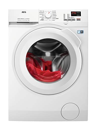 AEG L6FBA484 Waschmaschine Frontlader / 190,0 kWh/Jahr / Waschautomat mit Mengenautomatik / Schutz für edle Textilien dank ProTex Schontrommel (8 kg) / mit XXL-Türöffnung