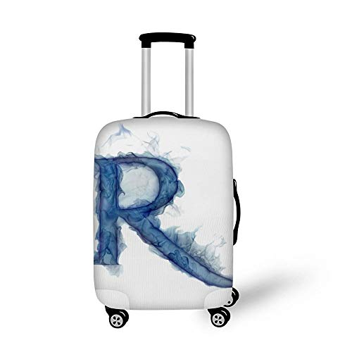 Letter Lit Smoke Gas R Fashionable Baggage Suitcase Protector Travel Luggage Cover Anti-Scratch