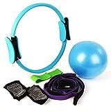 Fitness Magic Circle,Bandes de Résistance élastiques,Balle de pilates,Fitness Sangle D'Etirement,Chaussettes antidérapantes,Meilleur choix de thérapeutes physiques et entraîneurs sportifs