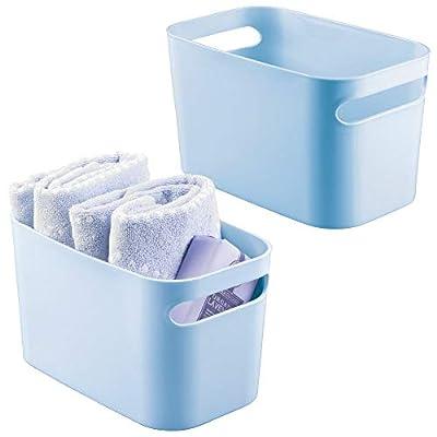 mDesign Plastic Bathroom Vanity Storage Organizer Bins