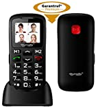 simvalley MOBILE Handy für Rentner: Komfort-Handy mit Bluetooth & Garantruf Premium, Fotokontakte (Rentnerhandys)