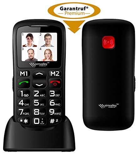 simvalley MOBILE Rentnerhandy: Komfort-Handy mit Bluetooth und Garantruf Premium, Fotokontakte (Rentnerhandys)