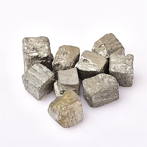 WXJ Pirita Natural, Piedra de Cristal Mineral de minerales Irregulares, Adornos de Gema de Cuarzo Pinza de Piedras Preciosas de pirita (Color : 8-15mm, Size : 10pcs)