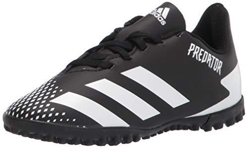 adidas Predator 20.4 Turf Zapatilla de fútbol para niños, Negro (Negro/Blanco/Negro), 32 EU