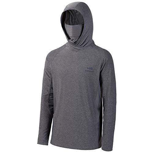 Bassdash UPF 50+ Camisa de Pesca de Manga Larga para Hombre con máscara UV Cuello Polaina con Capucha…
