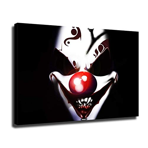 Pster de Halloween con decoracin de ambiente de terror clsico de la pelcula de miedo, decoracin del hogar, arte de impresin HD, pinturas de pared (45,7 x 60,9 cm, enmarcado)