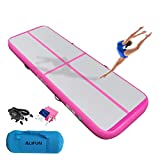 ALIFUN Tumbling Exercise Mat 10ft 13ft 16ft 20ft 23ft 26ft Thick 4/8 Inches Air Gymnastics Training Mat with Electric Air Pump for Home Use/Gym/Yoga/Training/Cheerleading