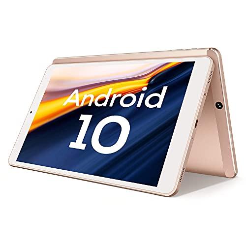 Tablet 10 Pollici, Android 10.0, Processore Kingpad SA10 Vastking Octa-Core, 3 GB di RAM, 32 GB Spazio di Archiviazione, IPS 1920x1200, Wi-Fi 5G, GPS, Fotocamera da 13MP, Oro Rosa
