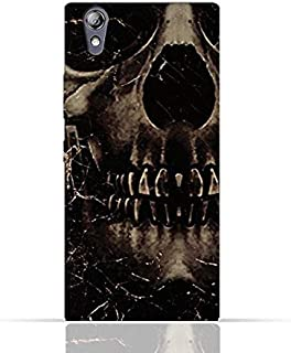 Lenovo P70 TPU Silicone Case With Dark Skeleton Pattern Design.