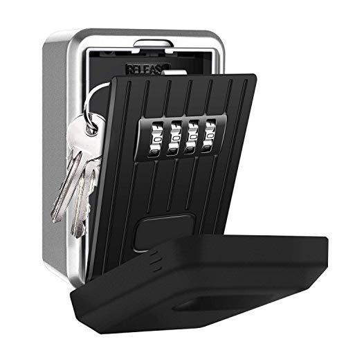 TTRWIN Schlüsselsafe Schlüsseltresor Schlüsselbox, mit 4-stelligem codeschloss Große wasserdicht und rostfrei WandSchlüsselschränke, für den Innen- und Außenbereich.