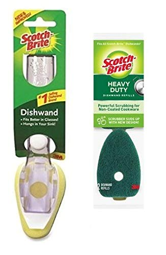 3M Scotch-Brite Heavy Duty Dishwand and 2 Refills (VALUE PACK) 650-12