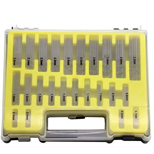 KONGZIR 150pcs coronas de perforación con titanio sistema de herramienta de la caja de titanio recubierto de acero de alta velocidad HSS Broca 0.4-3.2mm Taladro herramienta eléctrica Conjunto Bits
