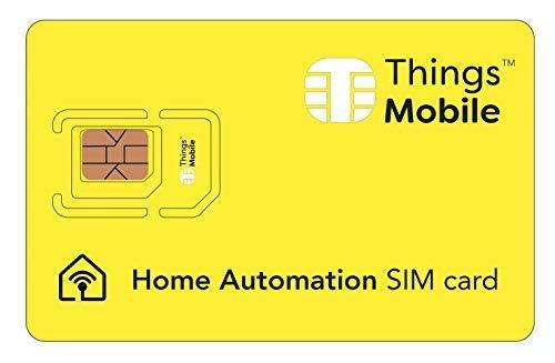 Tarjeta SIM para domótica / home automation - GSM / 2G / 3G / 4G - ideal para sistemas de domótica para uso doméstico e industrial con un crédito incluido de 10 €