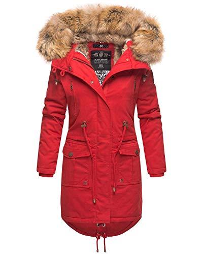 Navahoo dames winter jas parka mantel winterjas warm gevoerde capuchon B824