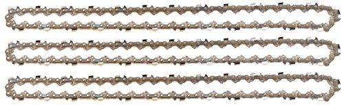 3 tallox Sägeketten 3/8 1,3 mm 50 TG 35 cm Vollmeißel kompatibel mit Stihl Motorsägen und anderen