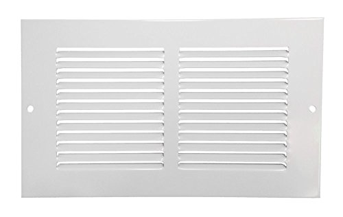 Rocky Mountain Goods Air Return Grille - Heavy duty steel with premium finish - Includes full installation kit - Louvered design - Paintable vent cover - Matte white - Consistent air flow (10' x 4')