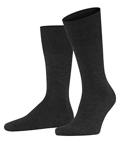 FALKE Herren Socken Airport - Merinowoll-/Baumwollmischung, 1 Paar, Grau (Anthracite Melange 3080), 41-42 (UK 7-8 Ι US 8-9)