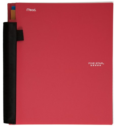 """Five Star Advance Spiral Notebook, 3 Subject, College Ruled Paper, 150 Sheets, 11"""" x 8-1/2"""" Sheet Size, Red (72803)"""
