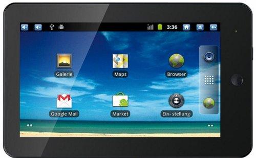 Touchlet X3 - Tablet (17,78 cm/7', 1GHz, 512 MB de RAM, 2 GB HDD, Pantalla táctil resistiva, HDMI, Android 2.3), Color Negro [Importado de Alemania]