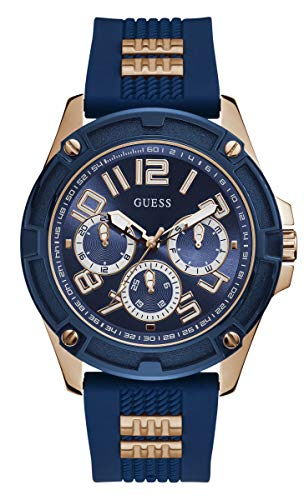GUESS Men's Analog Quartz Watch with Silicone Strap GW0051G3