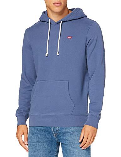 Levi's New Original Hoodie Sudadera con capucha, blue indigo, S para Hombre