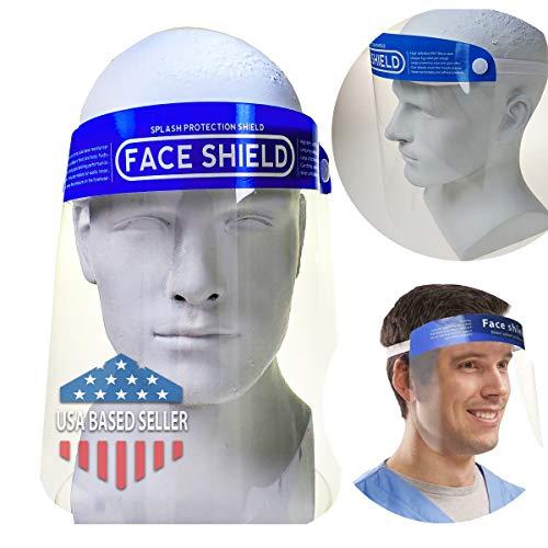 ProSPORT Pacote com 5 máscaras protetoras de rosto inteiro, proteção transparente contra projéteis líquidos, sprays saliva, proteção total, salões, escolas