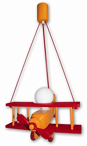 Waldi Leuchten Lampe suspendue Avion XXL, orange/rouge Baleine – 90116.0