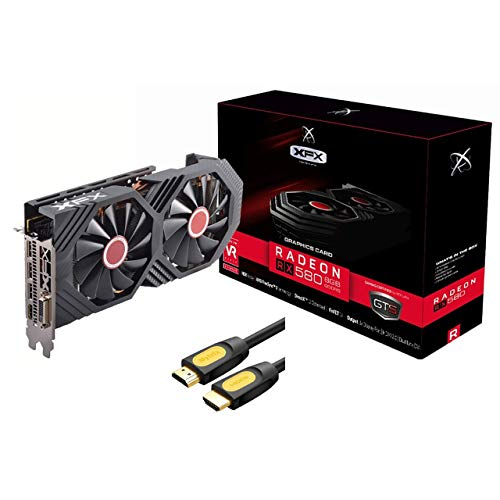 XFX AMD Radeon RX 580 GTS XXX Edition Graphics Card, 8GB GDDR5, PCI Express 3.0, VR-Ready, Zero dB...