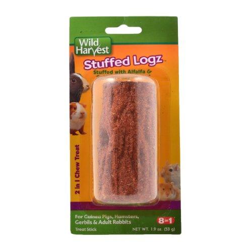 Wild Harvest Stuffed Logz 2-In-1 Chew Treat For Small Animals (P-84026)