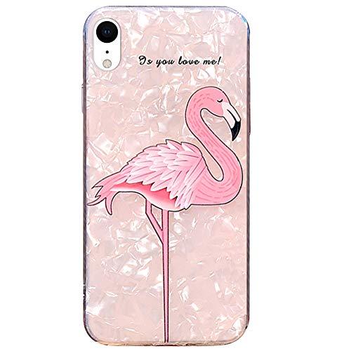 MoreChioce kompatibel mit iphone XR Hülle,kompatibel mit iphone XR Hülle Silikon,Schön Flamingo Strass Transparent TPU Flexible Handyhülle Stoßfest Kratzfeste Schutzhülle Defender Bumper