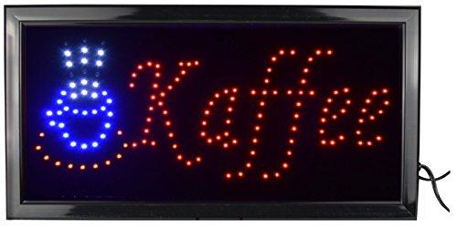 LED Leuchtreklame Werbung, LED Schild, Leuchtschild Noyan® (Kaffee)