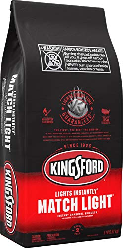Kingsford 32111 Match Light Charcoal Briquettes, 8 lb, Black