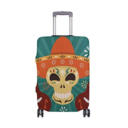 Alino México - Funda Protectora de Viaje para Ukelele con diseño de Calavera de azúcar, para Equipaje de 18 a 32 Pulgadas